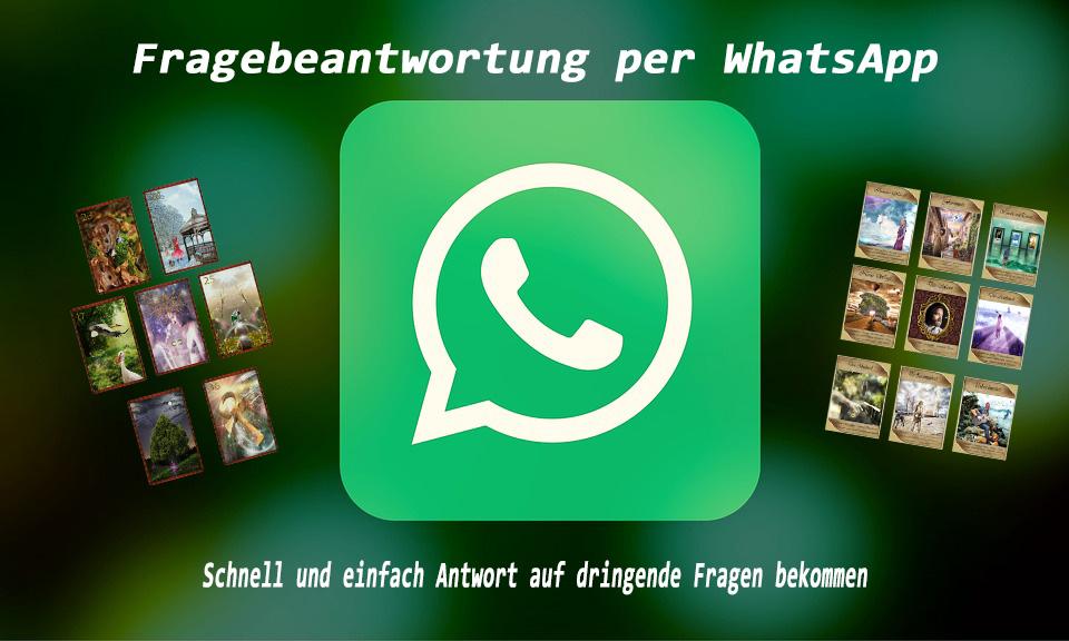 3 Fragen per    oder über WhatsApp Schnelle Antwort Kartenlegen