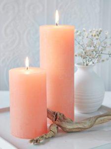 Kerzenfarben Terrakotta, Koralle, Pfirsich: kartenlegen-beratung.com